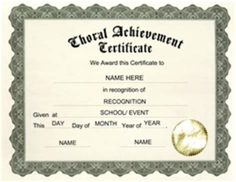 Choir Certificate Template by Attendance Certificate Template Word New