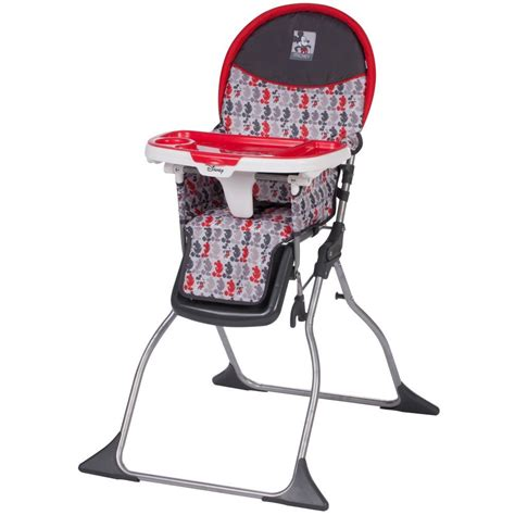 simple baby high chairs disney baby simple fold plus high chair mickey line up