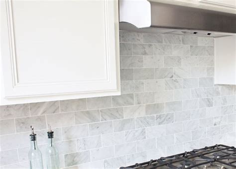 tumbled marble backsplash 3 polished white carrara