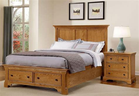 forsyth medium oak panel storage bedroom set from vaughan bassett coleman furniture