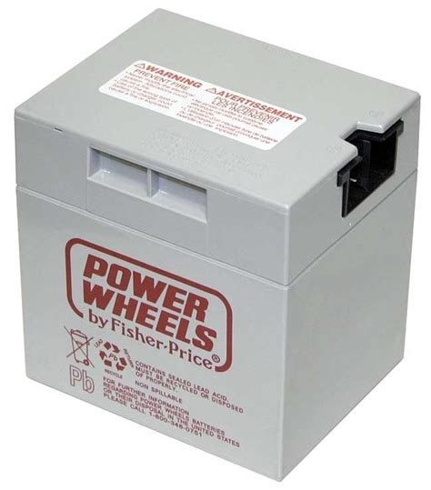 power wheels jeep battery new 00801 0638 battery 12 volt gray genuine power wheels