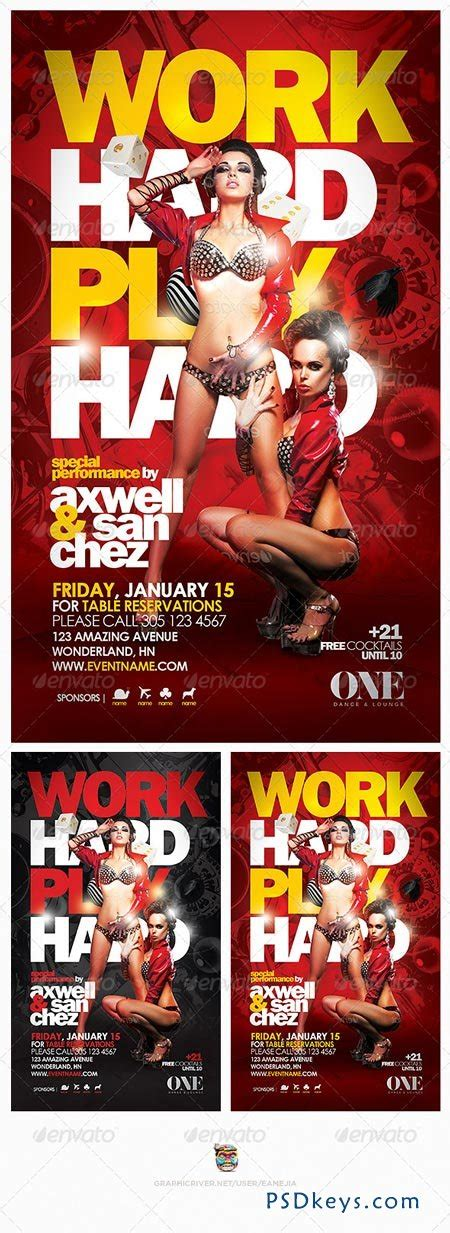 Work Hard Play Hard Flyer Template 6307926 187 Free Download Photoshop Vector Stock Image Via Work Flyer Template