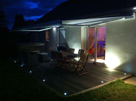 photo eclairage eclairage terrasse ext 233 rieure avec spots led lc electricit 233