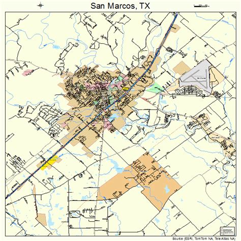 where is san marcos texas on a map san marcos texas map 4865600