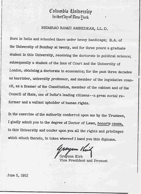 ambedkar biography in english pdf ll d degree certificate of dr b r ambedkar from