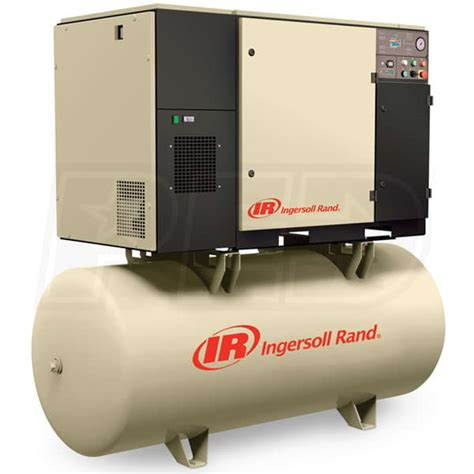 ingersoll rand compressor ingersoll rand up6 5 125 230 3 5 hp 80 gallon rotary air compressor 230v 3 phase 125psi
