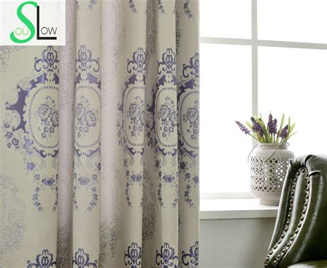 new kitchen chinese jacquard shade curtains french window floral blackout