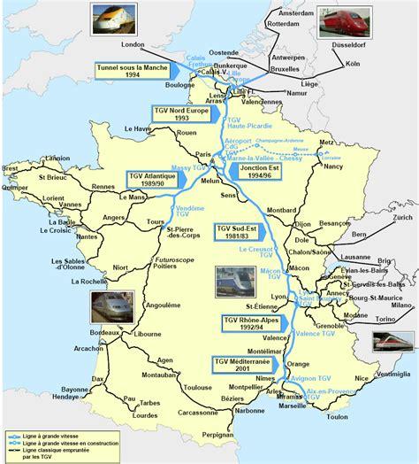 Carte de France TGV » Vacances   Arts  Guides Voyages
