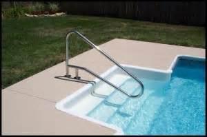 inground swimming pool handrails steve adler pool guys of palm