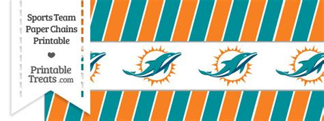 Miami Dolphins Sweepstakes - miami dolphins paper chains printable treats com