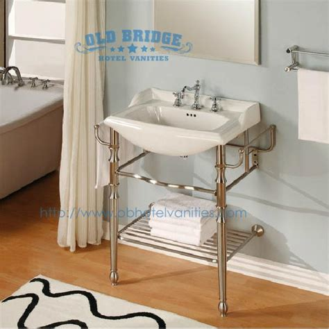 cheap quality bathrooms high quality metal vanity set with steel legs old bridge