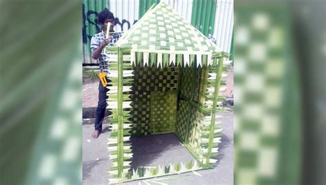 matunga market exhibits eco friendly decoration