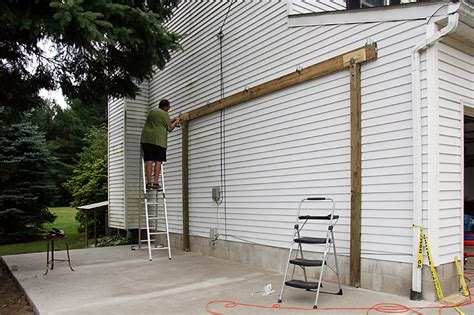 carport attached to garage build your own attached carport 187 woodworktips