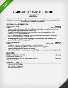 Example Caregiver Resume nanny resume sample amp writing guide resume genius