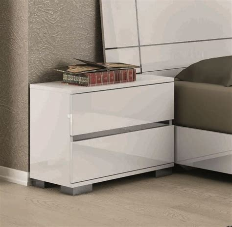 contemporary table ls for bedroom dream contemporary bedside cabinets in white high gloss