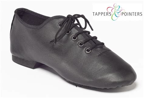 tappers and pointers split sole jazz shoes black white