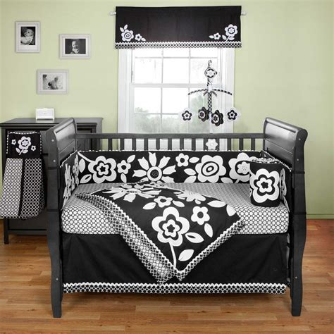 Black Toddler Bedding Set Black And White Crib Sheets Black And White Crib Sheet Image 1 Of 4 Top View Cotton Tale