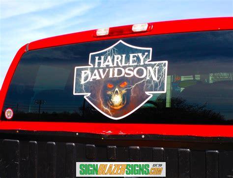 Window Decals Harley Davidson by Harley Window Decal Signblazersigns