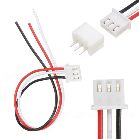 Connector Besi 3 Pin 2 Sets 10sets 3 pin mini micro jst xh2 54mm socket connector with wire cable 150mm ebay