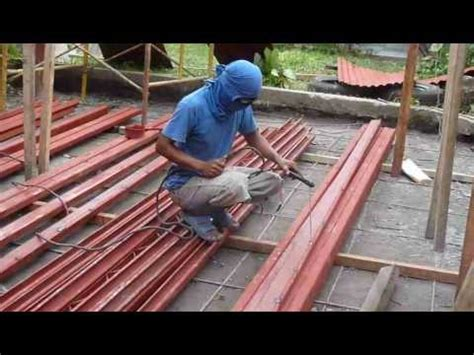 joining  welding  purlins  youtube