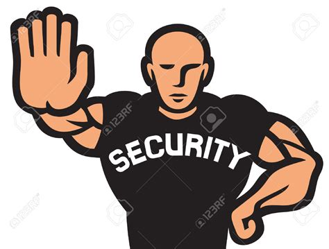 how to to be guard security guard clipart 77