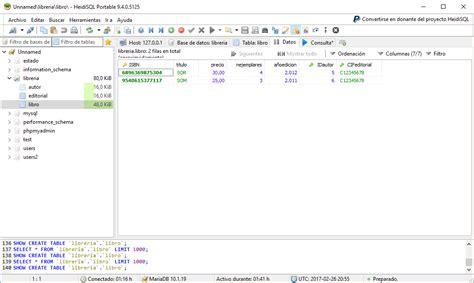 database libreria ejercicios de mysql insertar datos en la tabla libro de
