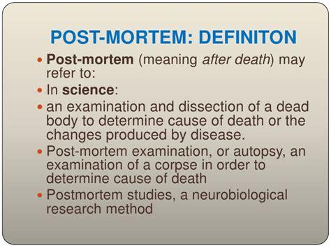 post mortem examination autopsy