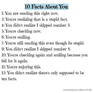 i facts 10 facts about you