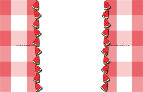 watermelon on the border summer picnic borders clipart panda free clipart images