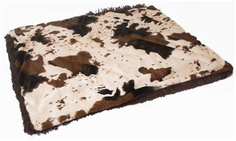 Faux Cowhide Blanket - luxuriously soft faux cowhide blanket for dogs or cats j