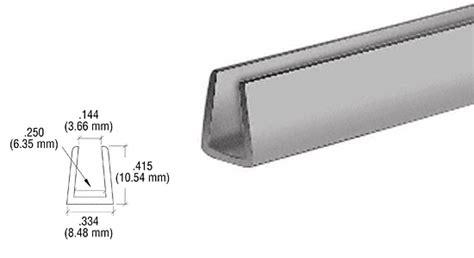 U Section Plastic by Crl D720gry Plastic U Channel Molding Gray Builderssale