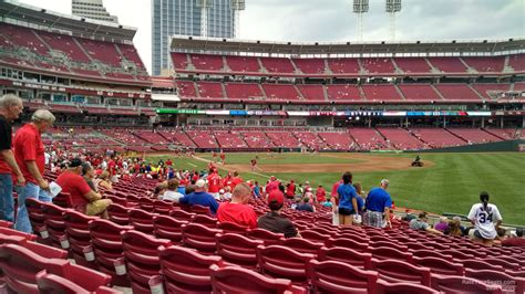 Great American Ballpark Section 135 by Great American Park Section 136 Cincinnati Reds