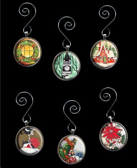 glass picture christmas ornaments kit