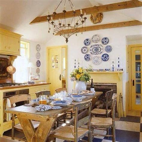 yellow blue white kitchen house stuff