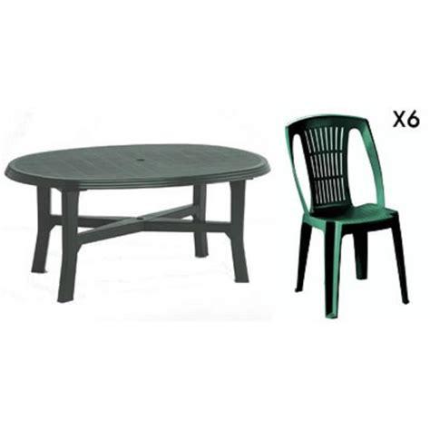 chaise de jardin plastique vert table ovale verte 6 chaises jardin plastique vert