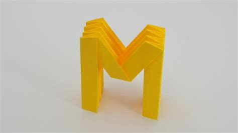 origami letter l origami letter m w