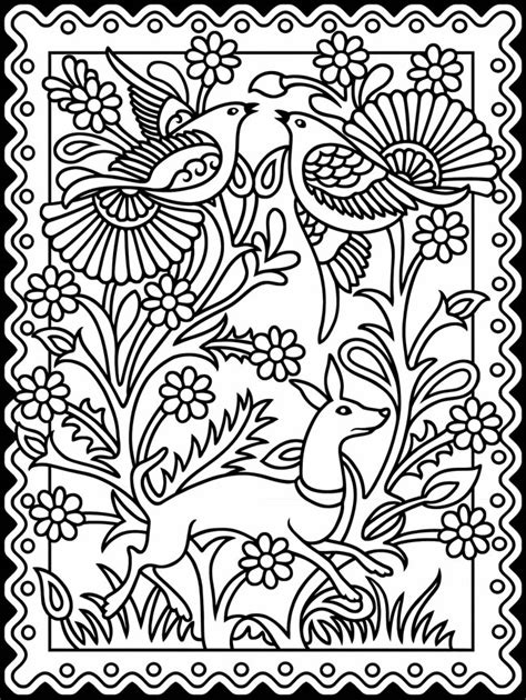 coloring pages of mexican flowers welcome to dover publications