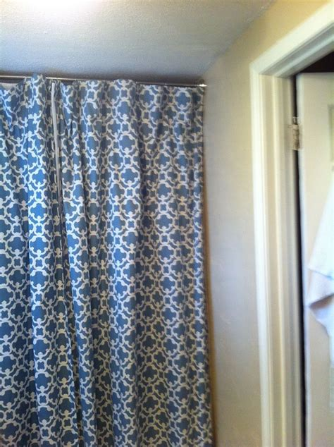 long blue curtains bathroom design awesome hookless extra long shower