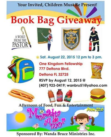 Free Backpack Giveaway 2017 - free backpack and school supplies in volusia county 2015 volusia county moms