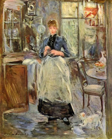 in the dining room c 1875 berthe morisot wikiart org