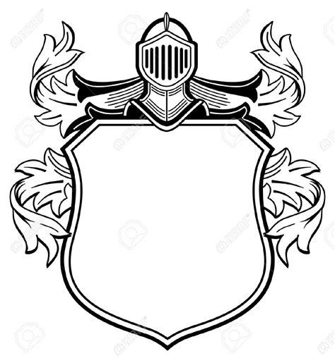 Shield Knight Clipart Explore Pictures Crest Design Template
