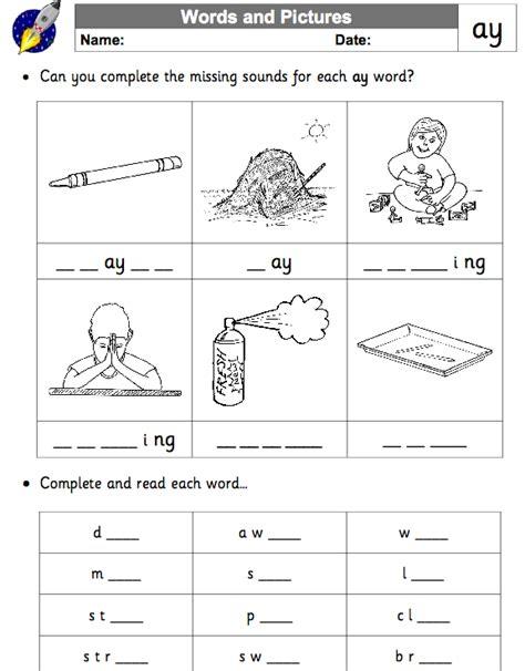 Ai And Ay Worksheets by Ai Worksheets Worksheets For School Getadating