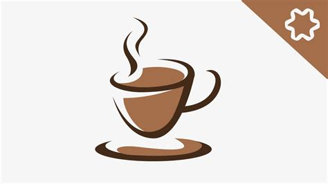 coffee cup coffee cafe cup logo design tutorial adobe illustrator