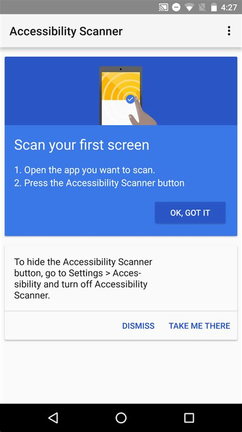 scan app for android s new accessibility scanner helps developers check their apps for accessibility issues