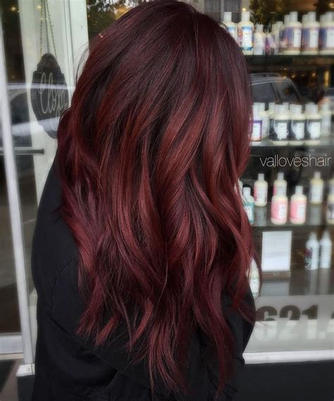 chromasilk over brown hair best 25 dark red balayage ideas on pinterest dark red