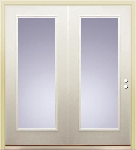 Center Hinged Patio Doors All Steel by Mastercraft Primed Steel P 8 Low E 72 Quot X 80 Quot Lite