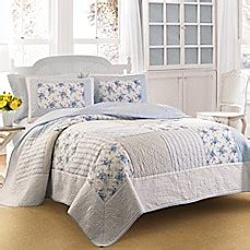 bed bath and beyond hiring age laura ashley 174 seraphina quilt in blue bed bath beyond