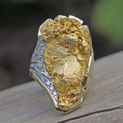 17 best images about gold nugget rings on
