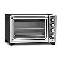 compact oven black standard countertop oven