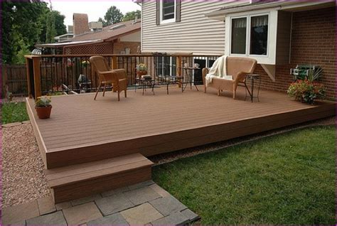 wood deck concrete patio wood deck concrete patio home design ideas